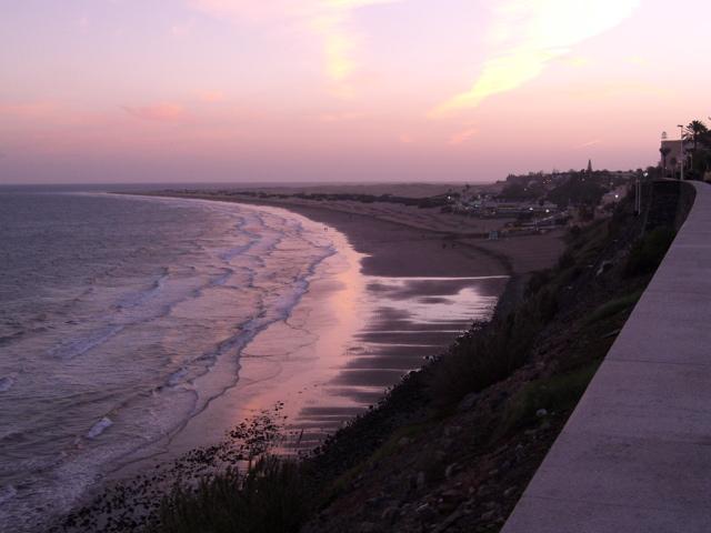Plaža, pogled zvečer