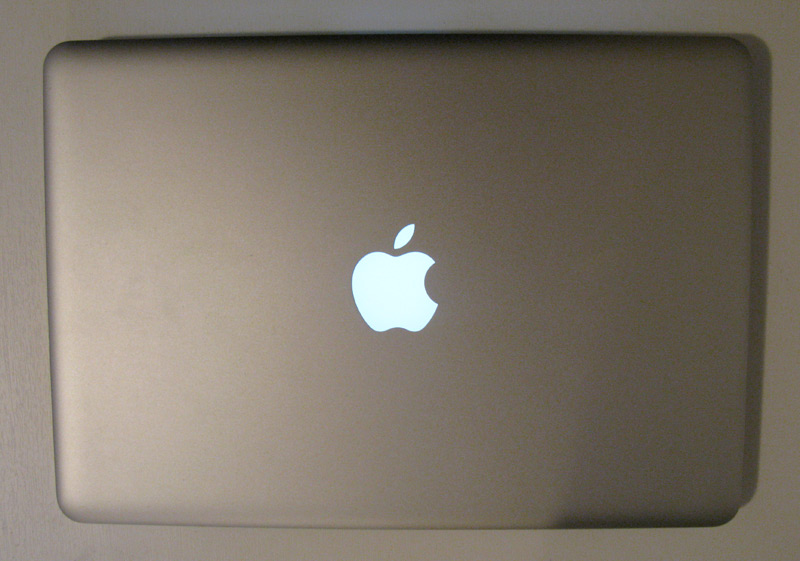 MacBook Air pogled od zgoraj